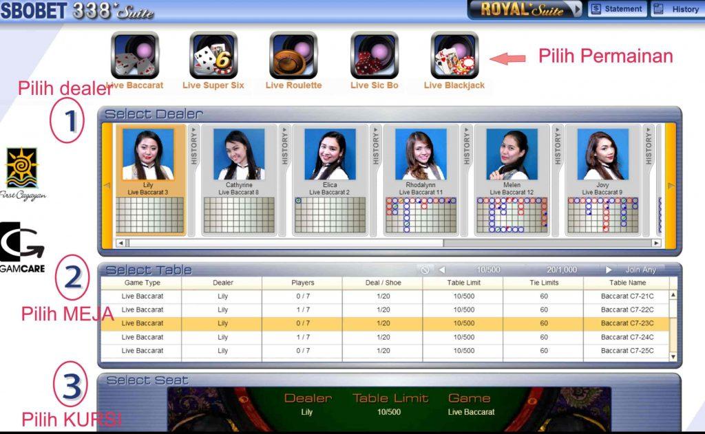 Cara Daftar Sbobet Live Casino 338a